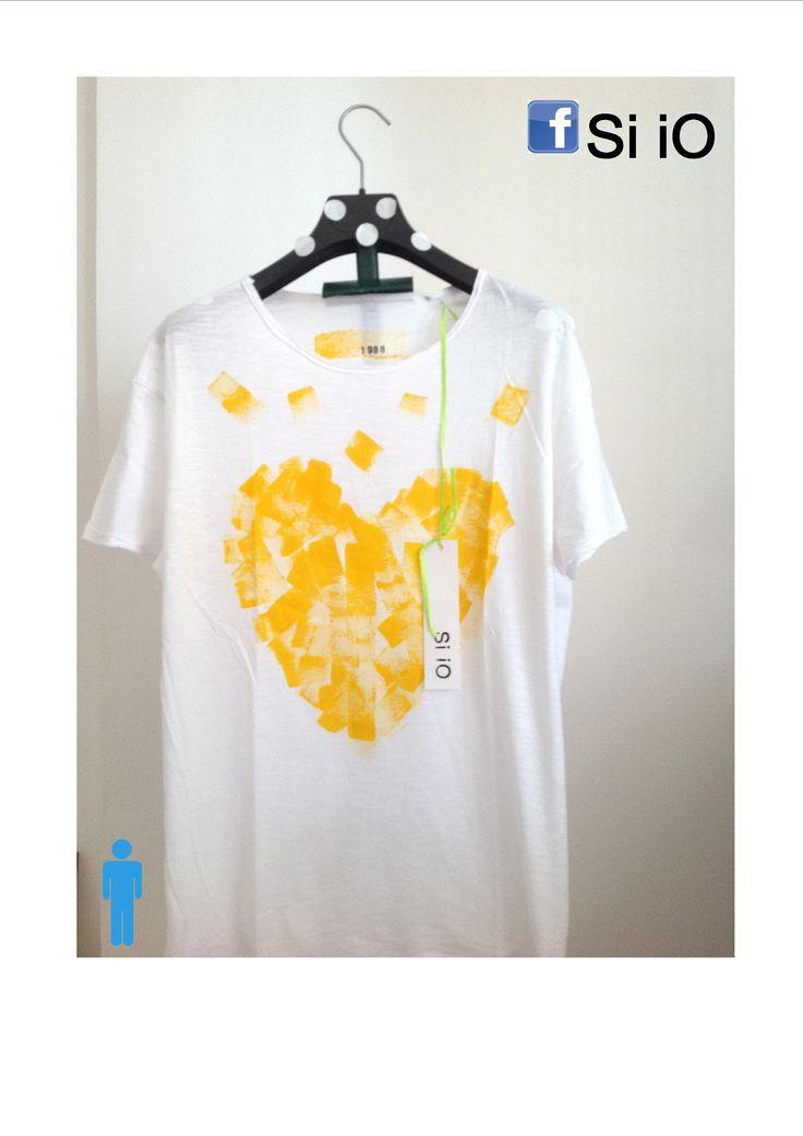 t-shirt uomo Si iO 100% cotone fiammato