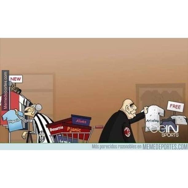 La Juventus vs Milan en este mercado de fichajes