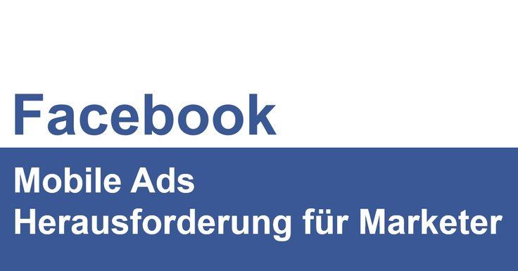 """Anlässlich der AllFacebook Marketing Conference habe ich in meinem Referat demThema """"Facebook: Mobile Ads - Herausforderung für Marketer"""" aufgenommen.  Nachfolgend die Präsentation zurAnsicht, ein ausführlicher Artikel zum Thema folgt in den nächsten Tagen:"""