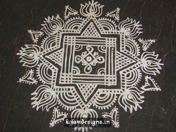 Simple Maa Kolam