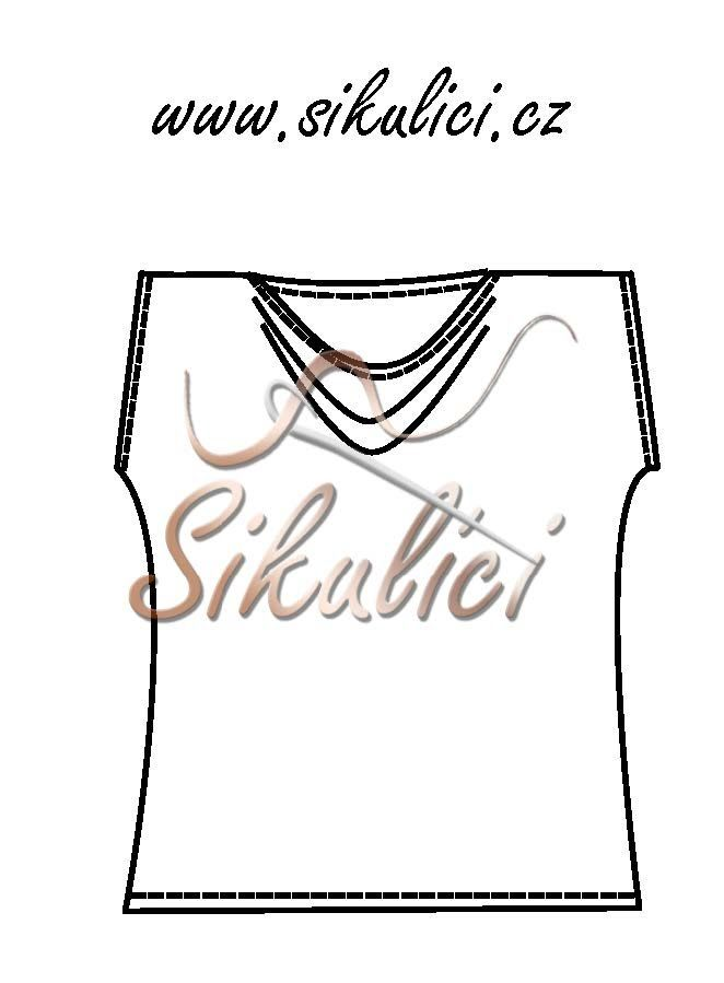 Střih na tričko s vodou