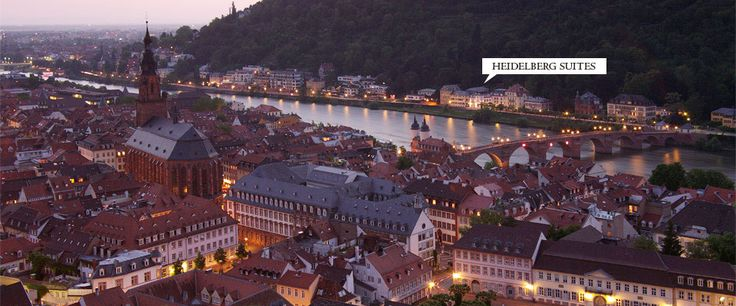 boutique hotel Heidelberg Suites and the 'Old Town' of Heidelberg