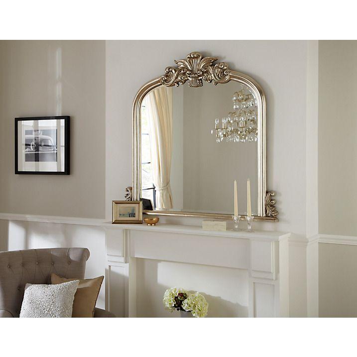 Buy Haversham Overmantel Mirror, Silver, H119 x W114cm Online at johnlewis.com