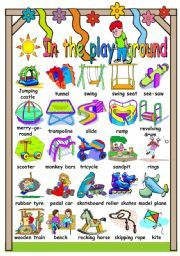 Worksheets And Activities For Teaching At The Playground