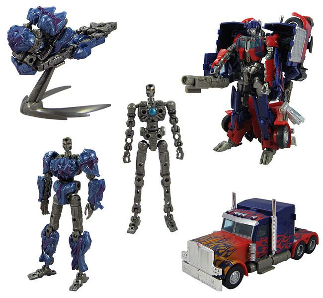 Trans-Scanning Optimus Prime. the protoform with the blue ...