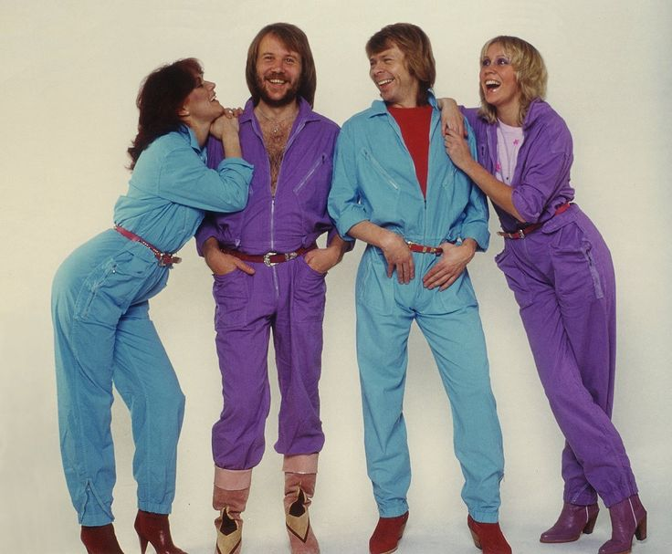 ABBA. jumpsuits. colours.