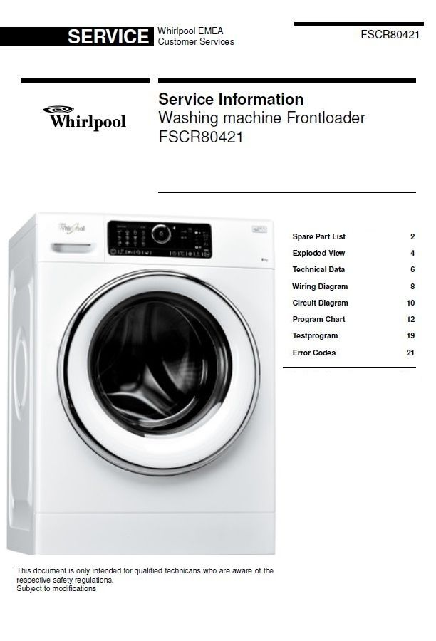 This is the original washing machine service doentation ... Ac Wiring Diagram Whirlpool Appliances on