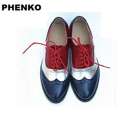 nieuwe 2015 hete koop met de hand gemaakt echt leer klassieke kwaliteit platte schoenen vrouwen oxford schoenen voor vrouwen winter schoenen vrije verschepen in   van oxford op AliExpress.com | Alibaba Groep