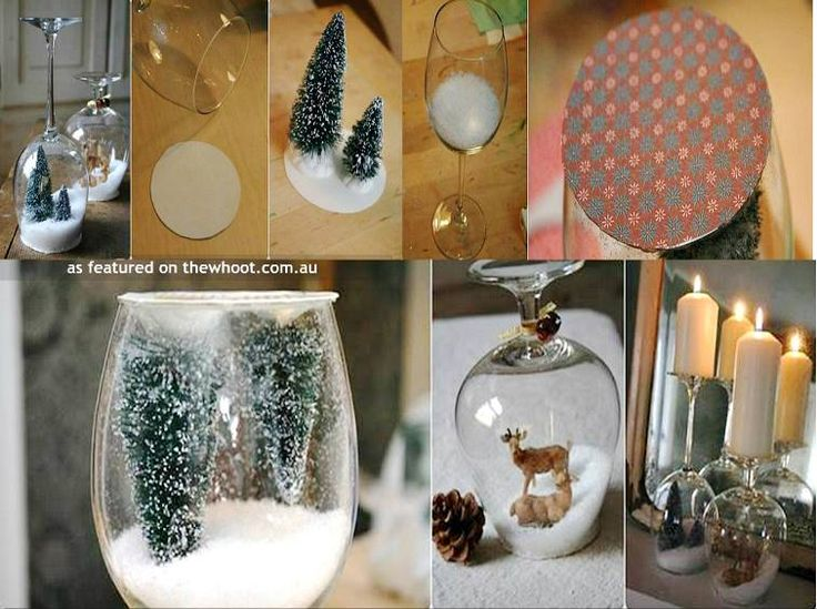 Christmas ideas pinterest top pins and best craft crafts for Holiday wine glass crafts