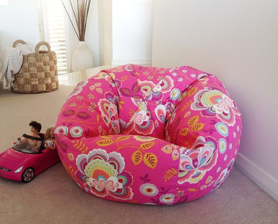 Kids Bean Bag Girls Bean Bag  Children's by IslandHomeEmporium, $95.00
