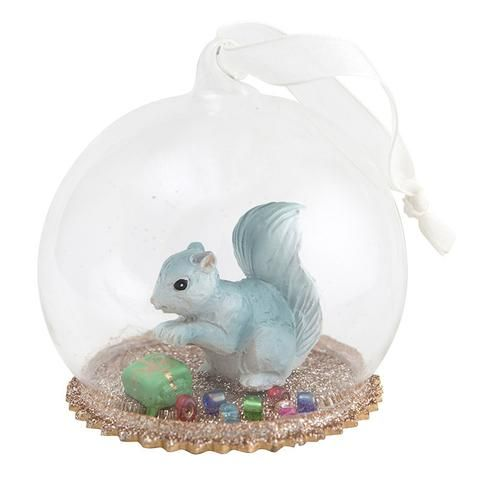 Down to the Woods Christmas Dome - Secret Squirrel