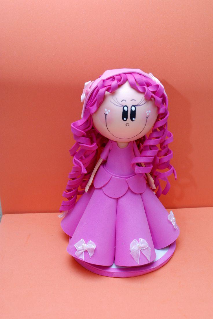 Fofucha princesita morada, miny creations