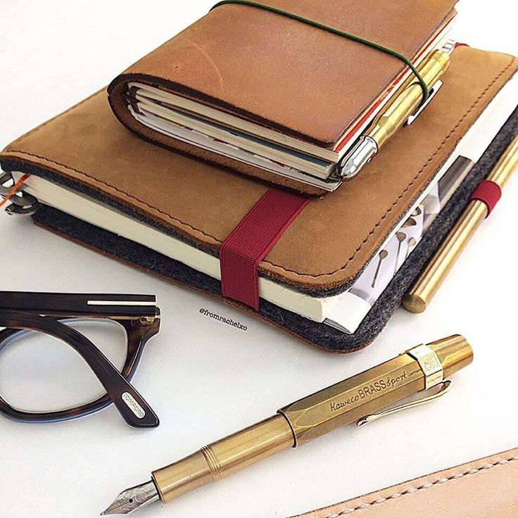 """❤️Rachel Chen on Instagram: """"A few of my favourites: Midori 5th edition traveler's notebook, Roterfaden leather cover with a Midori A5 notebook, Ateleia brass pen, Kaweco fountain pen and Tom Ford specs because I am as blind as a bat without my glasses . #lovedailydose #flatlay #fpgeeks #travelersnotebook #travelersnote #midori #midoritravelersnotebook #Roterfaden #Kaweco #Kawecosport #fountainpen #vsco #edc"""""""