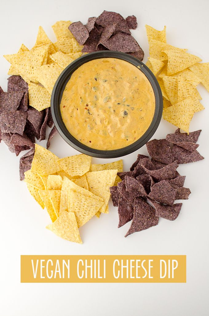 OMG! The BEST chili cheese dip that just happens to be gluten-free and vegan! A must make for football games!