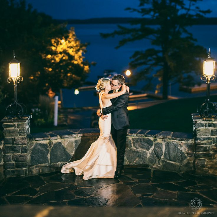 Romantic late night photos at Windermere House in Muskoka by Rowell Photography