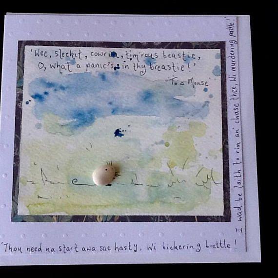 Burns+Night+card+handmade+Burns+card+To+a+Mouse+pebble+art