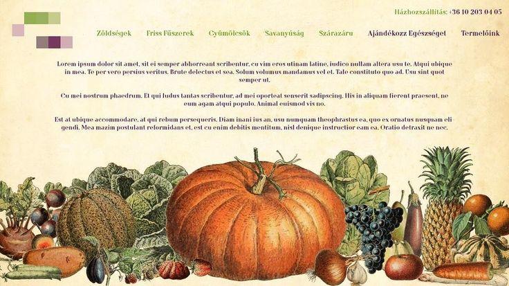 Greengrocer landing page