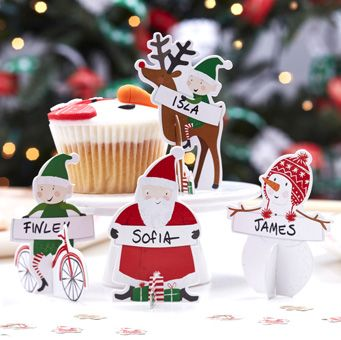 Dress your table with these adorable 3D Character Place Cards. A great way to ensure your guests are seated in the correct place around your Christmas Table!