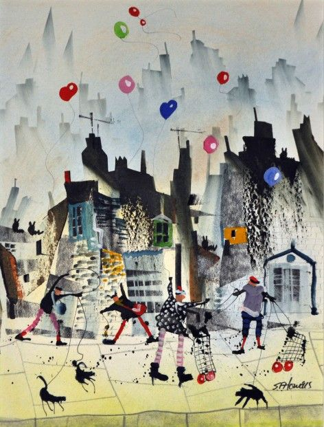 Sue Howells The Cats Have Scooted Mixed Media  | Contemporary Art