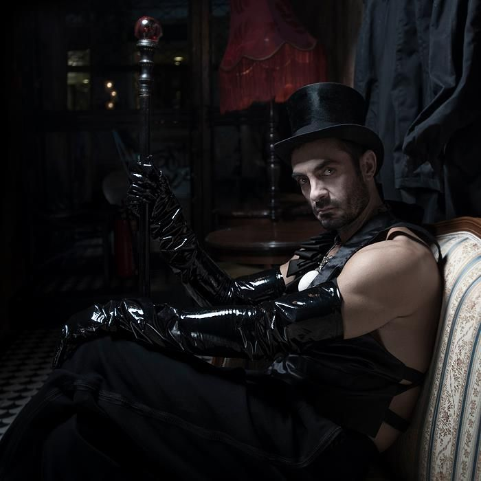 """""""MOX NOX"""" (soon it will be night) Credits:  Jewellery by Pericles Kondylatos Production, Styling, Concept: Pericles Kondylatos Photos: Sylwia Makris  Models provided by VN MODELS  Model coordinator: Dimitrios Constantine Makris  Make-up: Yannis Marketakis, /Christina Ermidi / Georgios Fytas for Make-up Lab  Location: Bar -Theatre """"Faust"""""""