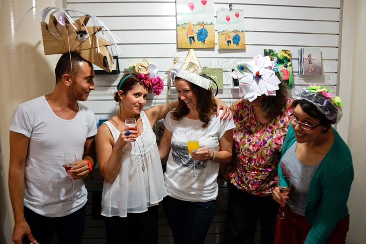 Our fab customer service team in their Melbourne Cup hats (Rony, Lise, Geri, Leah, Aline).