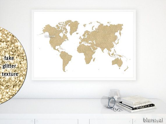 The 25 best gold world map ideas on pinterest gold map world 36x24 printable world map golden glitter map gold nursery map gold world gumiabroncs Image collections