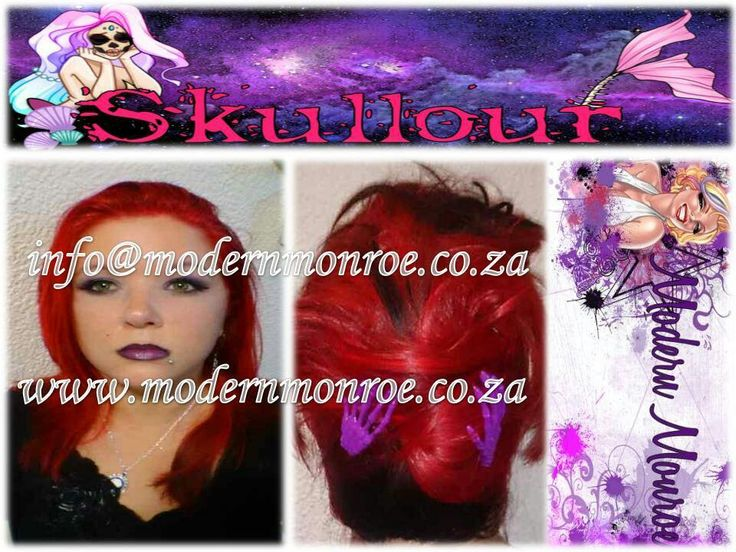 Red hot Skullour hair dye. Skullour is a vegan friendly, cruelty free product that delivers long lasting beautiful results. For more info http://www.modernmonroe.co.za/index.php/online-shop/category/view/2