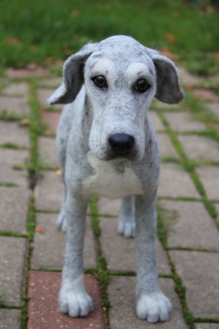 This is so cool! Needle Felted Great Dane Dog custom order pet by AliceFelts, $200.00