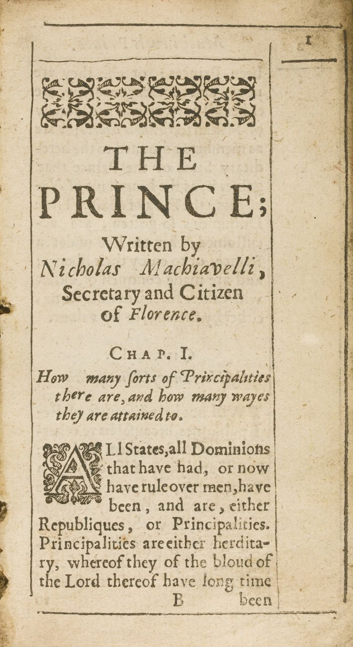 a review of niccolo machiavellis the prince For nearly 500 years, machiavelli's observations on realpolitik have shocked  and appalled the timid and  yet, 'the prince' was the first attempt to write of the  world of politics as it is, rather than  what people are saying - write a review.