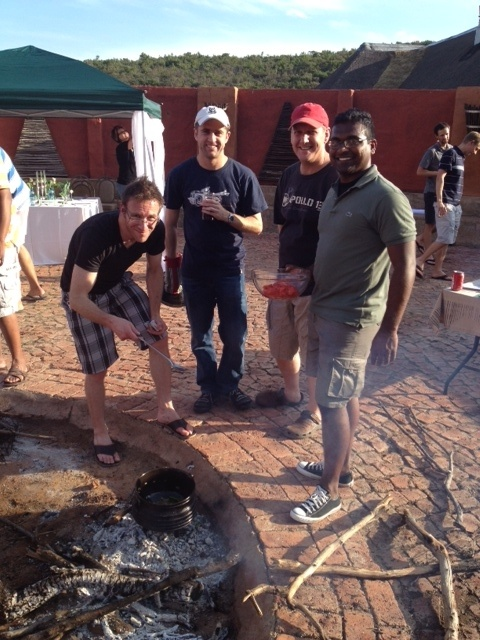 Momentum is busy with their Potjie competition in our Boma.