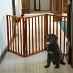 24 in. x 54 in. Wooden Freestanding Mahogany Pet Gate