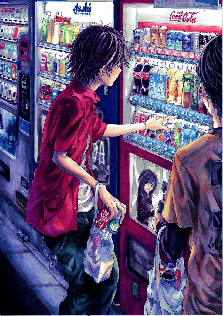 Manga normal.. Alltag Getränkeautomat imagens