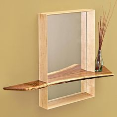 Build a mirror that's anything but ordinary by adding a unique, natural-edge shelf. Don't have a natural-edge plank? No problem build a nice-looking shelf from stock material.  Featured in WOOD Issue 233, July 2015
