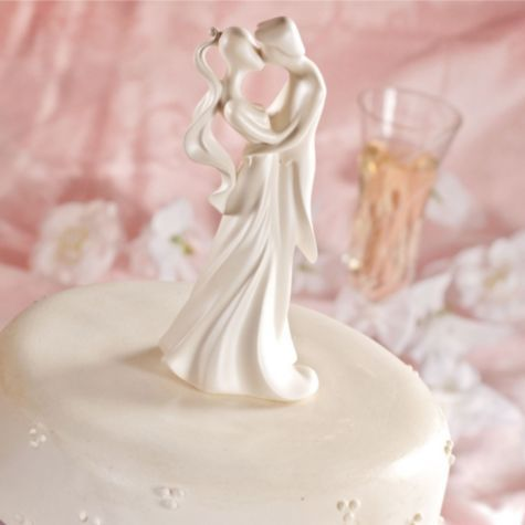 First Kiss Wedding Cake Topper 6 3/4in - Wedding Cake Toppers - Weddings - Categories - Party City