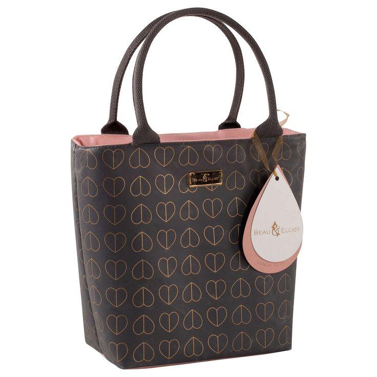 BuyBeau & Elliot Hearts Lunch Cooler Bag, Dove, 2L Online at johnlewis.com