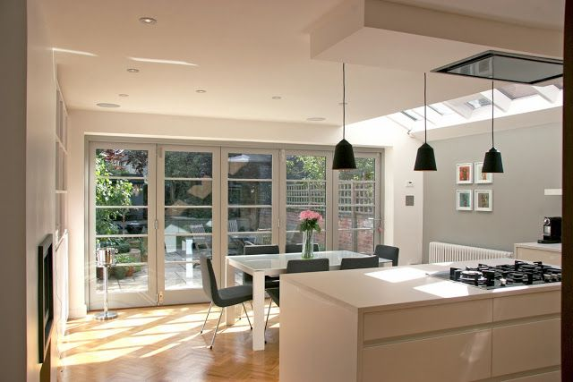 rogue-designs interior architecture and design oxford: Extension with Leicht Kitchen and Nigel Slater Inspired Folding Doors