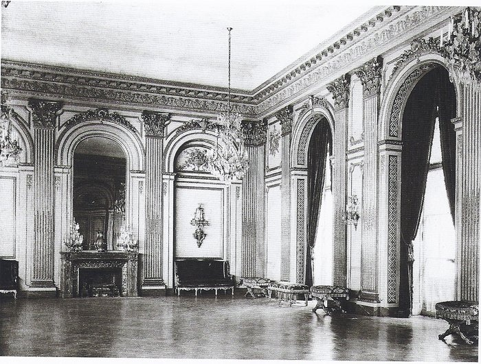 640 Fifth Ave. | The ballroom of the Vanderbilt mansion during Grace Wilson [Mrs. Cornelius III] Vanderbilt's occupancy.Historical Matter, Vanderbilt, Interiors, Historical Architecture, Guild Age, Cornelius Iii, Grace Wilson, Mansions, Gilded Age