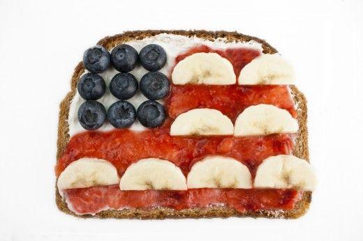 Patriotic ToastRabbit Food, Cream Cheese