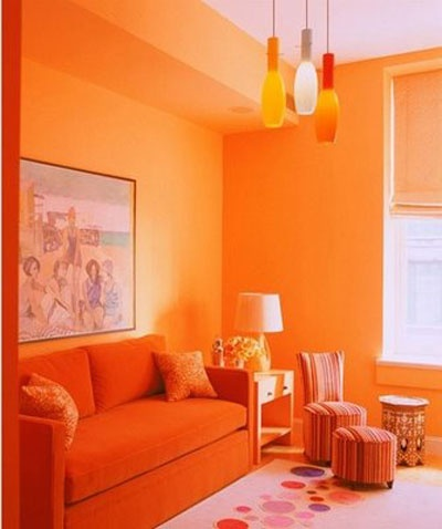 Wonderful Orange Livingroom With Images Of Orange Livingroom .