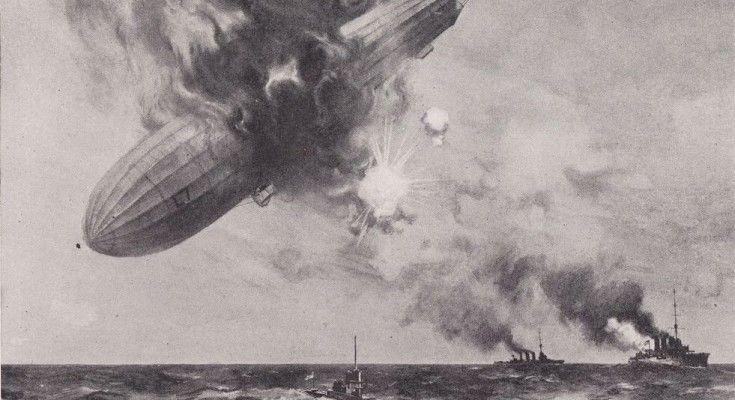 death-plunge-of-L71-Las incursiones alemanas de Zeppelin en Gran Bretaña durante la Primera Guerra Mundial no sólo causaron la muerte de 557 civiles y heridas a 1.358 personas, sino que causaron pánico generalizado en todo el país