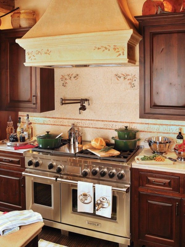 This Italian inspired kitchen is stocked and ready