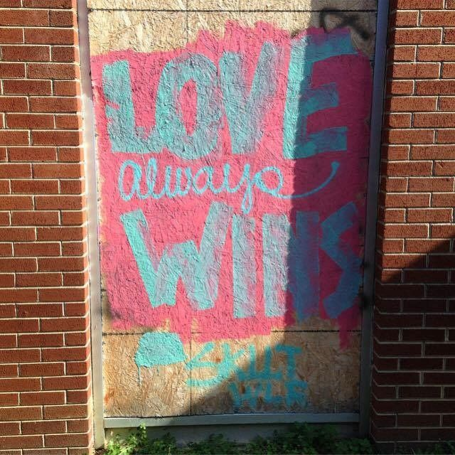 There is a movement to paint over the hate-fueled election graffiti, and it's fantastic. In the Repaint Hate Facebook group (which has over 3,000 members as of this writing), people can report hateful graffiti that needs covering and share pictures of the messages of love painted over them.