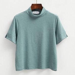 harajuku t shirt women 2017 crop top korean new spring summer t-shirts women macarons color split kawaii bottoming tshirt women