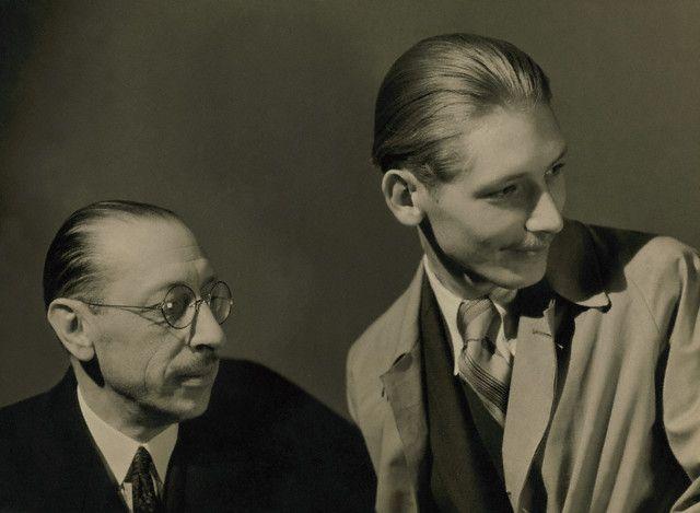 Igor Stravinsky with his son Soulima (Sviatoslav) Stravinsky (ca. 1935) byGeorge Hoyningen-Huene