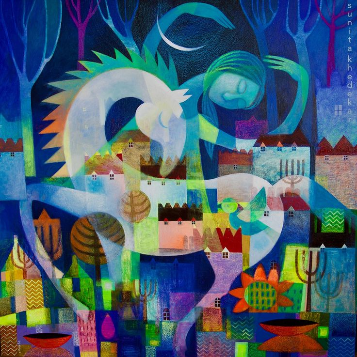 Midnight Dancing Beauty  100cm x 100cm  Acrylic with mixed media