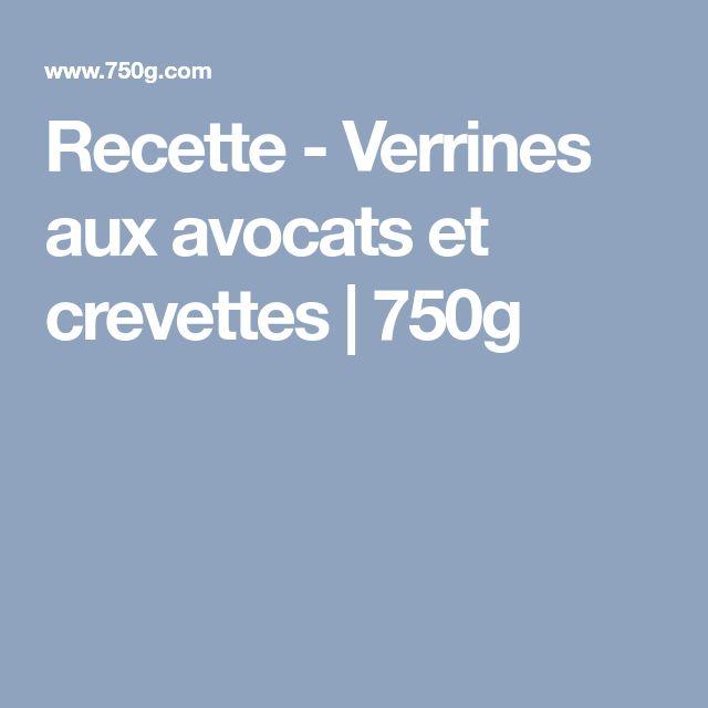 Recette - Verrines aux avocats et crevettes | 750g
