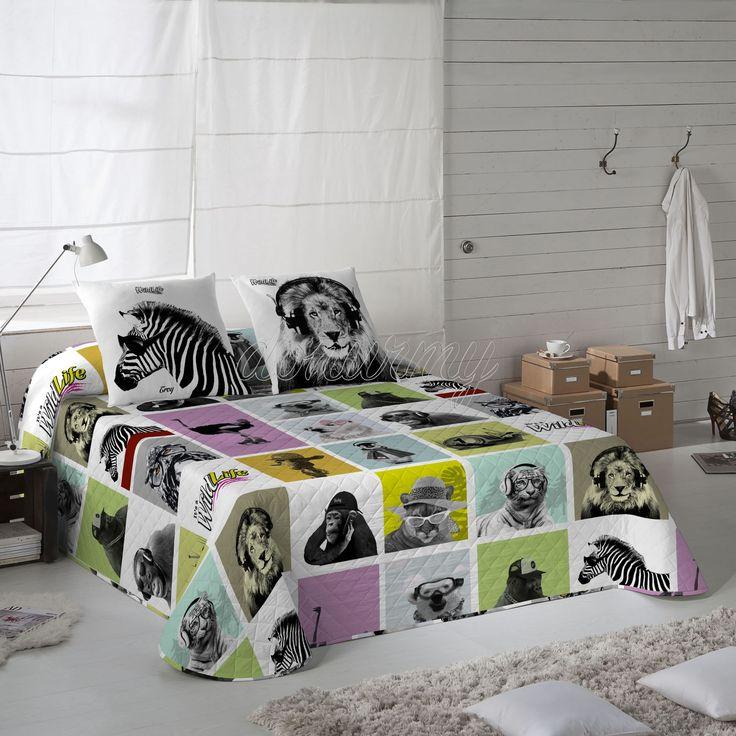 Colcha Bouti Trophic Wild Life - Bazartextil.com