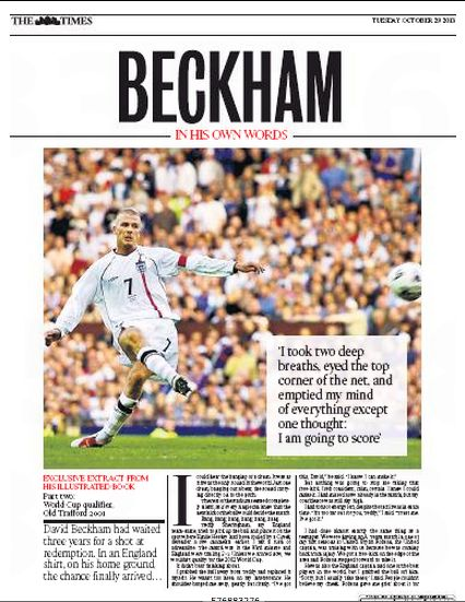 David Beckham on that England goal v Greece: All of the pain, all of the bitterness, all of the hatred... had come to an end