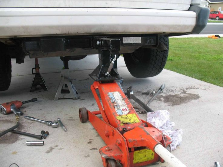 Floor Jack Adaptor By Bullchuck    Homemade Floor Jack Adaptor Intended To  Level And Securely. Automotive ...