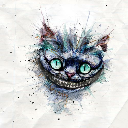 Cheshire, cat, Alice In Wonderland, art